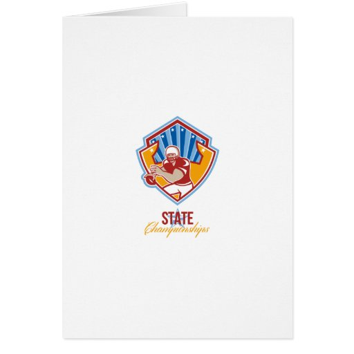 American Football Quarterback State Championships Greeting Card