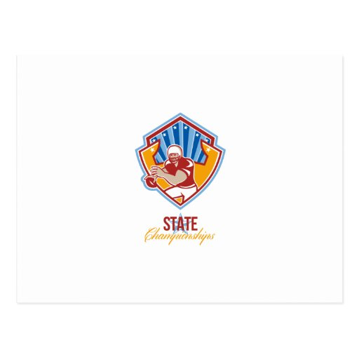 American Football Quarterback State Championships Postcard