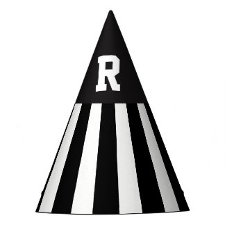 American Football Referee Stripes Paper Hat