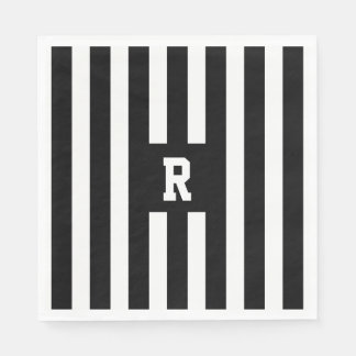 American Football Referee Stripes Paper Napkins