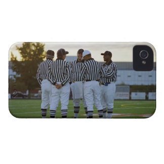 American football referees talking in field iPhone 4 case