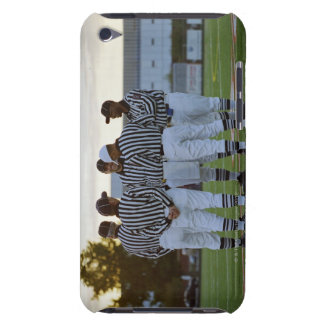 American football referees talking in field iPod touch cover
