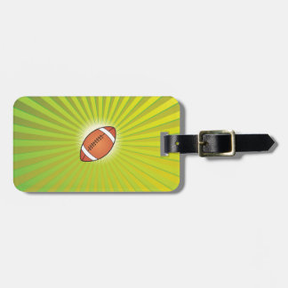 American Football Rugby Luggage Tag