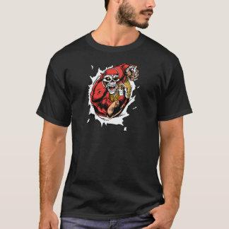 American Football Skeleton Player T-Shirt
