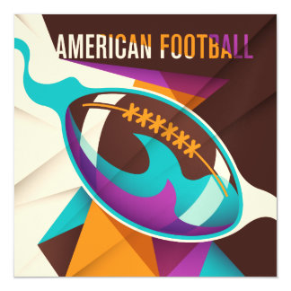 American Football Sport Ball Abstract Magnetic Invitations