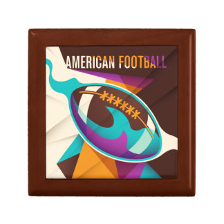 American Football Sport Ball Abstract Small Square Gift Box