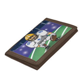 American Football Star Player Trifold Wallets