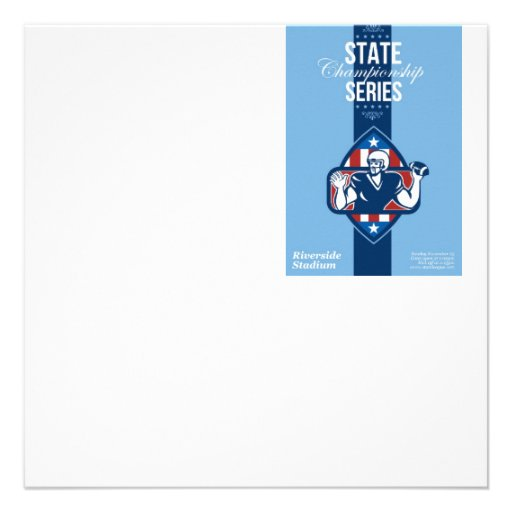 American Football State Championship Series Poster Invite