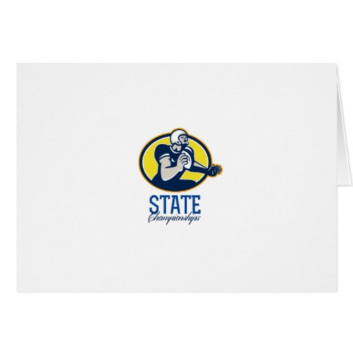 American Football State Championships Retro Greeting Card