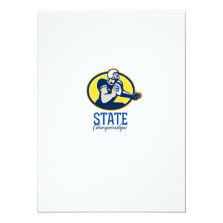 American Football State Championships Retro Personalised Announcements