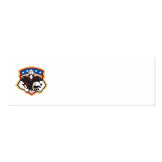 American Football Tackle Linebacker Helmet Shield Business Card Templates