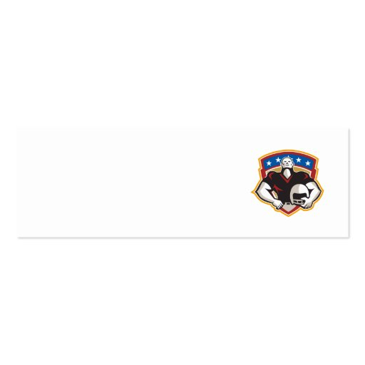 American Football Tackle Linebacker Helmet Shield Business Card Template