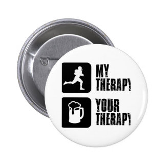 American Football therapy designs 6 Cm Round Badge