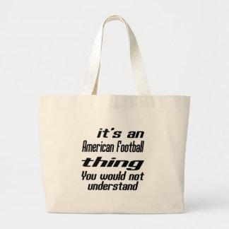 American Football Thing Designs Jumbo Tote Bag