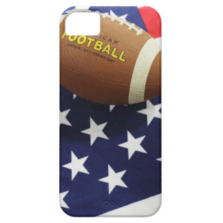 American football with the US flag Barely There iPhone 5 Case