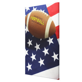 American football with the US flag Canvas Print
