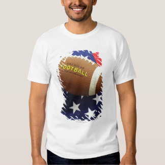 American football with the US flag Tshirt