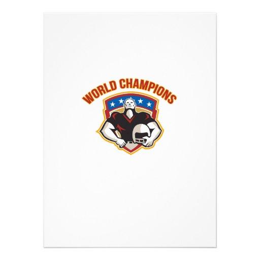 American Football World Champions Shield Invitation