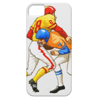 American footballer blocking an opponent iPhone 5 case