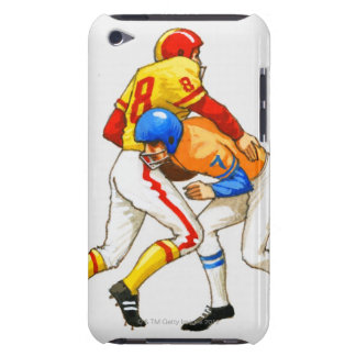 American footballer blocking an opponent iPod touch Case-Mate case