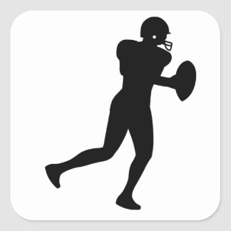 American Footballer Square Sticker