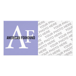 American Foxhound Breed Monogram Customised Photo Card