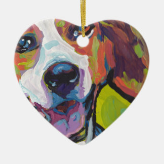 American Foxhound Bright Colorful Pop Dog Art Christmas Ornament