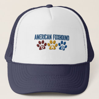 AMERICAN FOXHOUND DAD Paw Print Trucker Hat