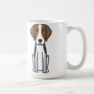 American Foxhound Dog Cartoon Coffee Mug