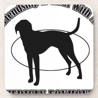 AMERICAN FOXHOUND DOG DESIGNS BEVERAGE COASTER