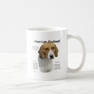 American Foxhound History Design Basic White Mug