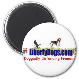 American Foxhound Treasures 6 Cm Round Magnet