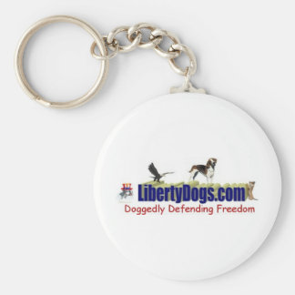 American Foxhound Treasures Basic Round Button Key Ring