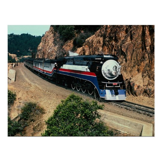 American Freedom Train 4449 at Cape Horn, Californ