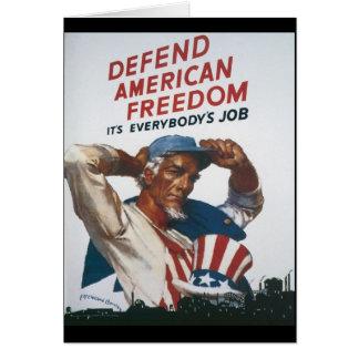 American Freedom World War 2 Greeting Card