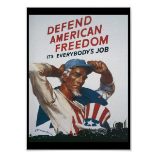 American Freedom World War 2 Poster