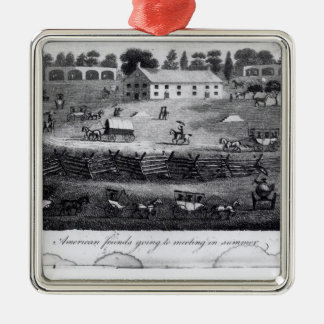 American Friends Going to Meeting in Summer Christmas Ornament