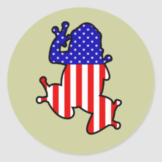 American Frog Stickers