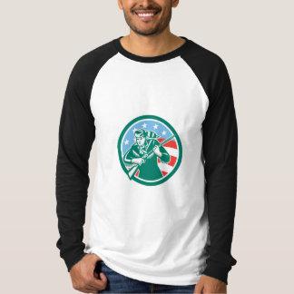 American Frontiersman Daniel Boone Circle Retro Tshirts