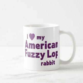 American Fuzzy Lop rabbit Basic White Mug