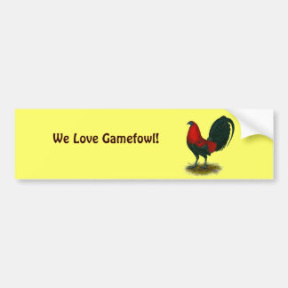 American Gamecock:  Brown Red Car Bumper Sticker