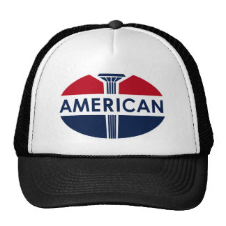 American Gas Station sign Flat version Trucker Hats