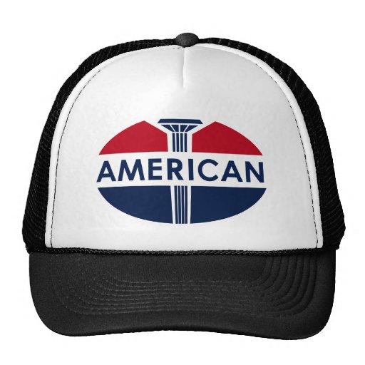 American Gas Station sign. Flat version Trucker Hats