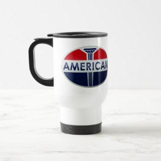 American Gas Station vintage sign crystal version Coffee Mugs