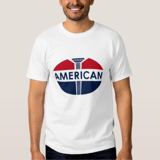 American Gas Station vintage sign flat version. Shirts