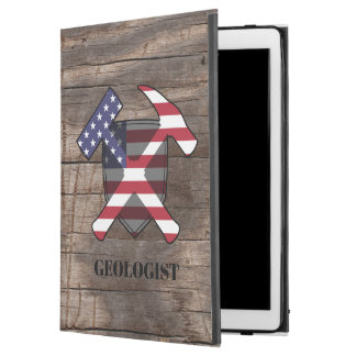 "American Geologist's Rock Hammer and Shield iPad Pro 12.9"" Case"