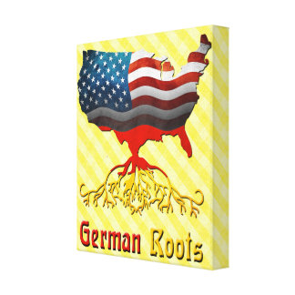 American German Roots Canvas Print