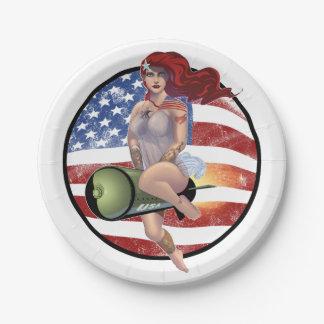 American Girl Paper Plate