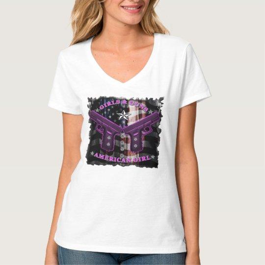 American Girls love guns and diamonds T-Shirt