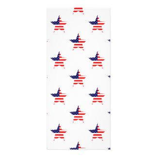 American Glory Star Pattern Personalised Rack Card